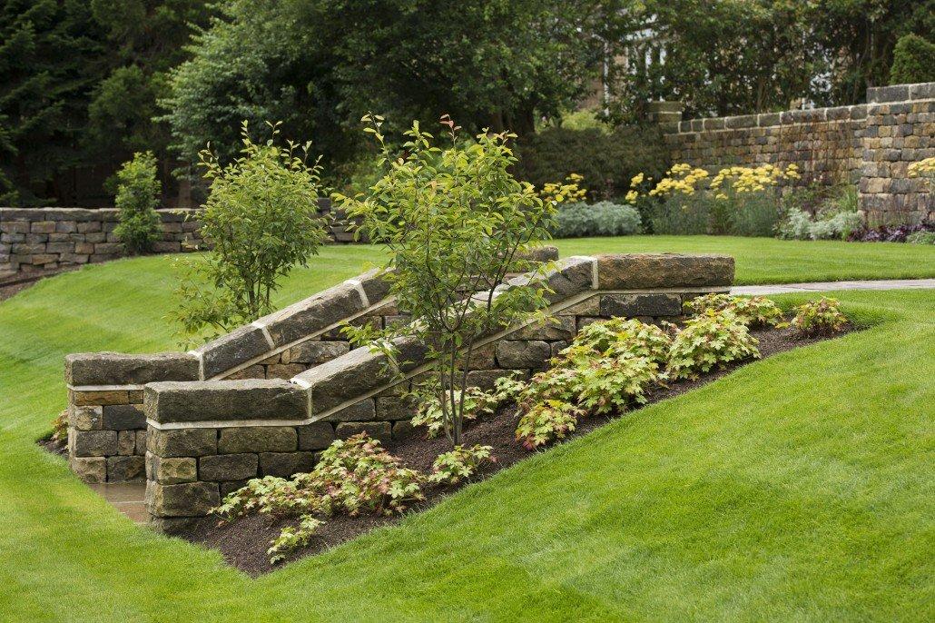 Sloping garden ilkley 2014 2015 melissa morton for Garden slopes designs