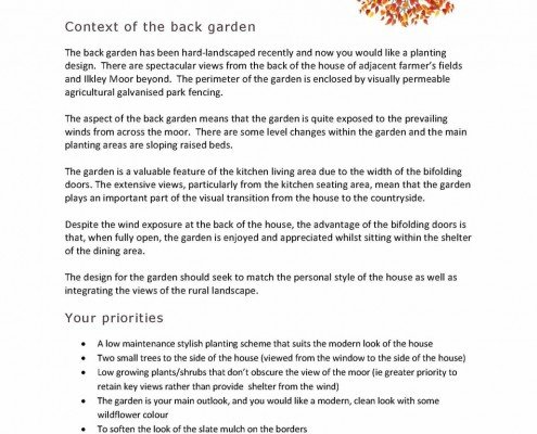 Garden Design Questionnaires For Clients awesome house design brief gallery - home decorating design