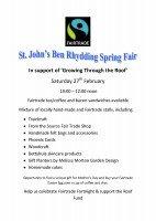 St Johns Spring Fair - Poster